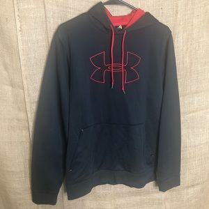 Under Armour Hoodie M Loose Fit Jacket Red Black